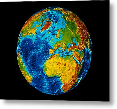 Image Of Earth Generated By Computer Graphics Metal Print by Stocktrek