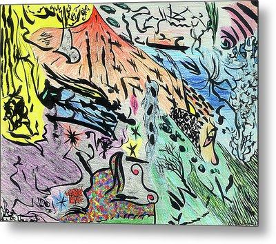 Imaginery Landscape 1 Metal Print by Valeria Jye