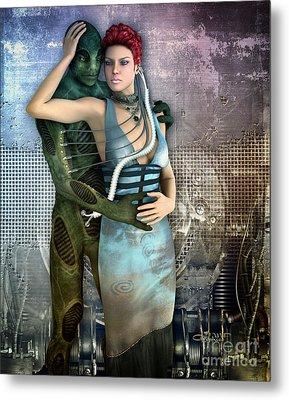 In Love With An Alien Metal Print by Jutta Maria Pusl