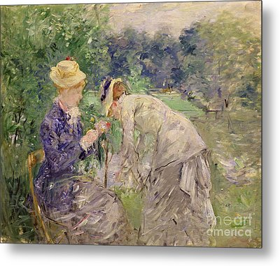 In The Bois De Boulogne Metal Print by Berthe Morisot