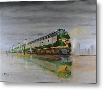 In The Cold Mist Metal Print by Christopher Jenkins