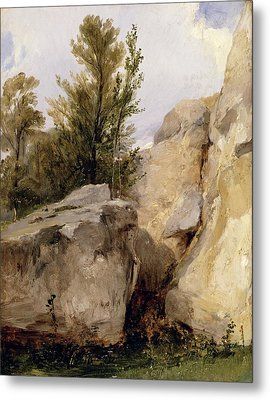 In The Forest Of Fontainebleau Metal Print by Richard Parkes Bonington