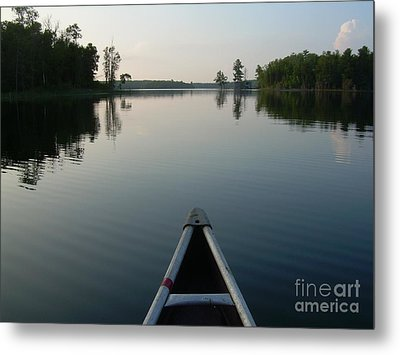 In The Old Canoe Metal Print by Alex Blaha
