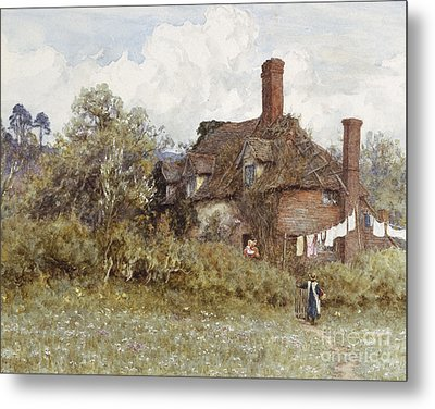 In The Spring Metal Print by Helen Allingham
