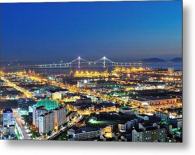 Incheon City Metal Print by Tokism