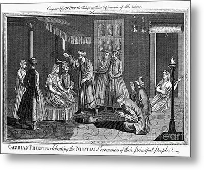 India: Wedding, 1780s Metal Print by Granger