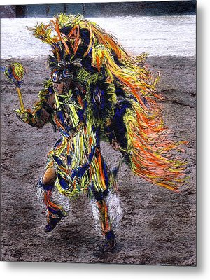 Indian Dancer Metal Print by Randy Sprout