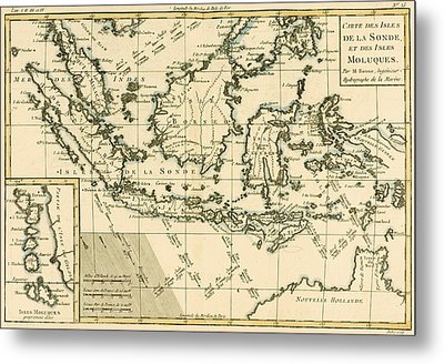 Indonesia And The Philippines Metal Print by Guillaume Raynal