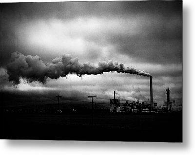 Industrial Eruption Metal Print by Ilker Goksen