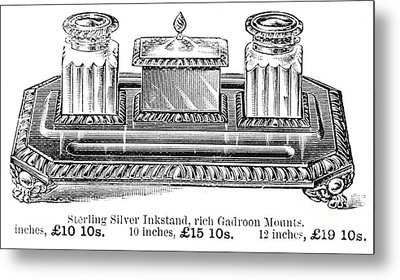 Inkstand, 19th Century Metal Print by Granger