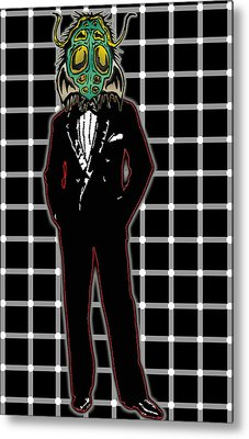 Insectoid Fashion 1 Metal Print by Travis Burns