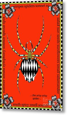 Insects Juvenile Licensing Art Metal Print by Anahi DeCanio