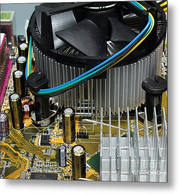 Inside View Of New Computer Metal Print by Yali Shi