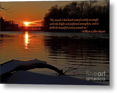 Inspirational Sunset With Quote Metal Print by Sue Stefanowicz