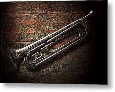 Instrument - Horn - The Bugle Metal Print by Mike Savad