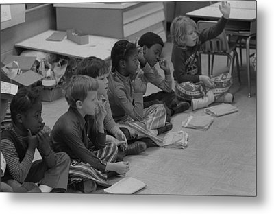 Integrated First Grade Class Of African Metal Print by Everett