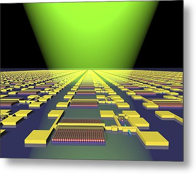 Integrated Nanowire Circuit, Artwork Metal Print by Lawrence Berkeley National Laboratory