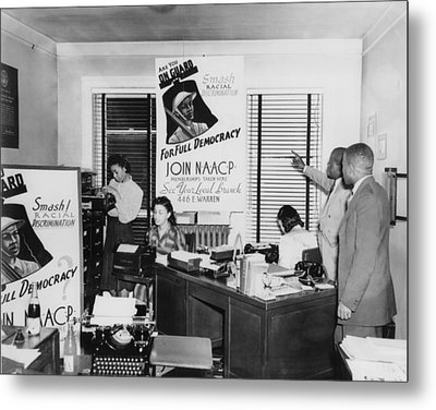 Interior View Of Naacp Branch Office Metal Print by Everett