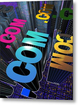 Internet City Metal Print by Victor Habbick Visions
