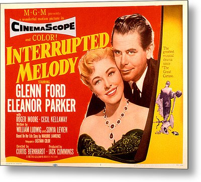 Interrupted Melody, Eleanor Parker Metal Print by Everett