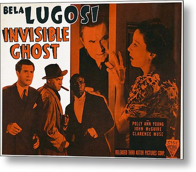 Invisible Ghost, Trio On Bottom Left Metal Print by Everett