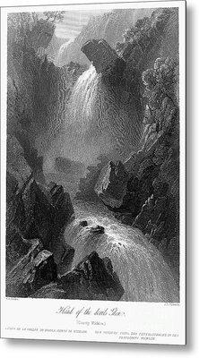 Ireland: Devils Glen, C1840 Metal Print by Granger