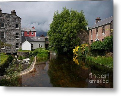 Irish Houses Metal Print by Louise Fahy