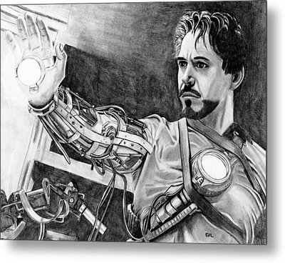 Iron Man Metal Print by Gil Fong