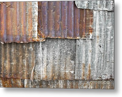 Iron Weathering A Variety Of Wall Metal Print by Chavalit Kamolthamanon