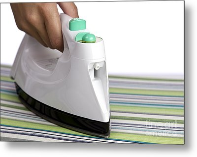 Ironing Metal Print by Blink Images