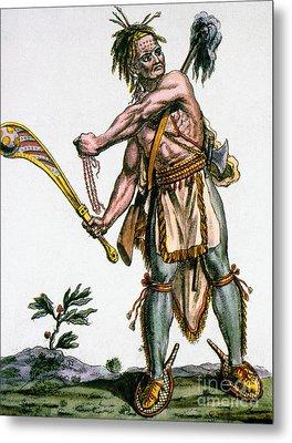 Iroquois Warrior Metal Print by Granger