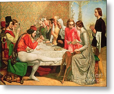 Isabella Metal Print by Sir John Everett Millais