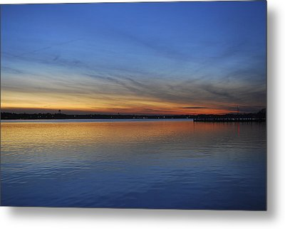 Island Heights At Dusk Metal Print by Terry DeLuco