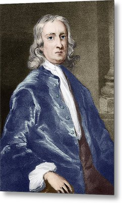 Issac Newton, English Physicist Metal Print by Sheila Terry