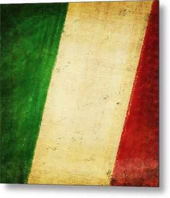 Italy Flag Metal Print by Setsiri Silapasuwanchai
