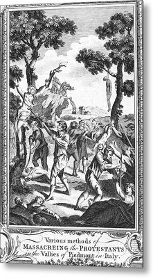 Italy: Protestant Martyrs Metal Print by Granger
