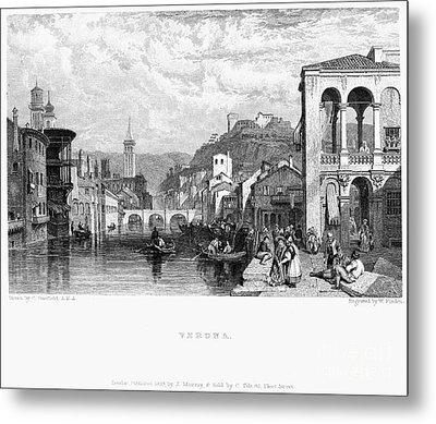 Italy: Verona, 1833 Metal Print by Granger