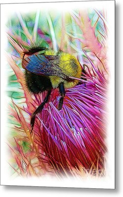 I've Fallen Into A Thistle And I Can't Get Out Metal Print by Judi Bagwell