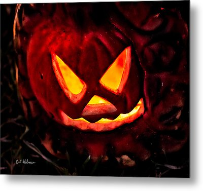 Jack-o-lantern Metal Print by Christopher Holmes
