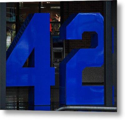 Jackie Robinson 42 Metal Print by Rob Hans