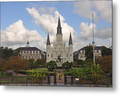 Jackson Square New Orleans Metal Print by Bill Cannon