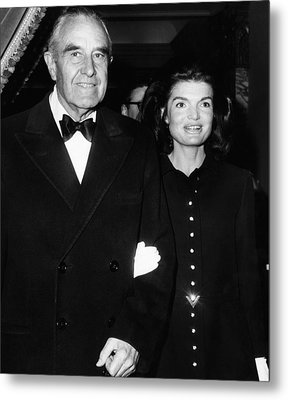 Jacqueline Kennedy In Her First Public Metal Print by Everett