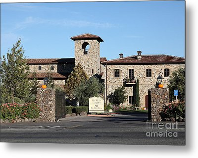 Jacuzzi Family Vineyards - Sonoma California - 5d19322 Metal Print by Wingsdomain Art and Photography