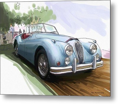 Jaguar X K 140 Metal Print by RG McMahon