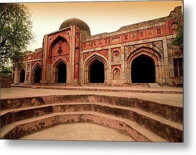 Jamali Kamali Mosque And Tomb Metal Print by Poonamparihar.com