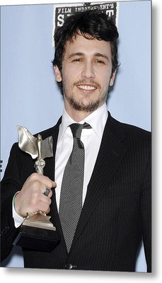James Franco In The Press Room Metal Print by Everett