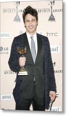 James Franco In The Press Room For 2011 Metal Print by Everett