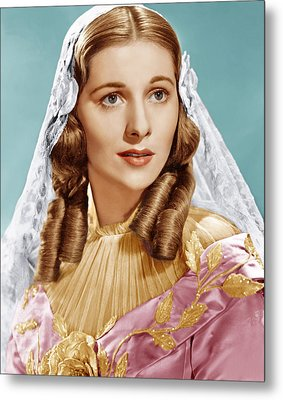 Jane Eyre, Joan Fontaine, 1943 Metal Print by Everett