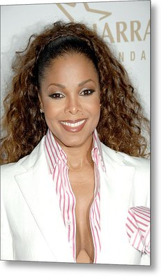 Janet Jackson At Arrivals For 19th Metal Print by Everett