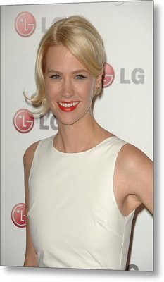 January Jones At Arrivals For A Night Metal Print by Everett
